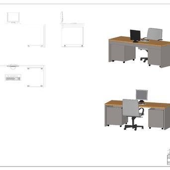 Schreibtischanlage